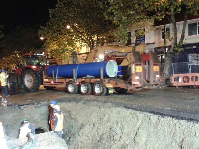 New Water Pipe For Main Street Swords